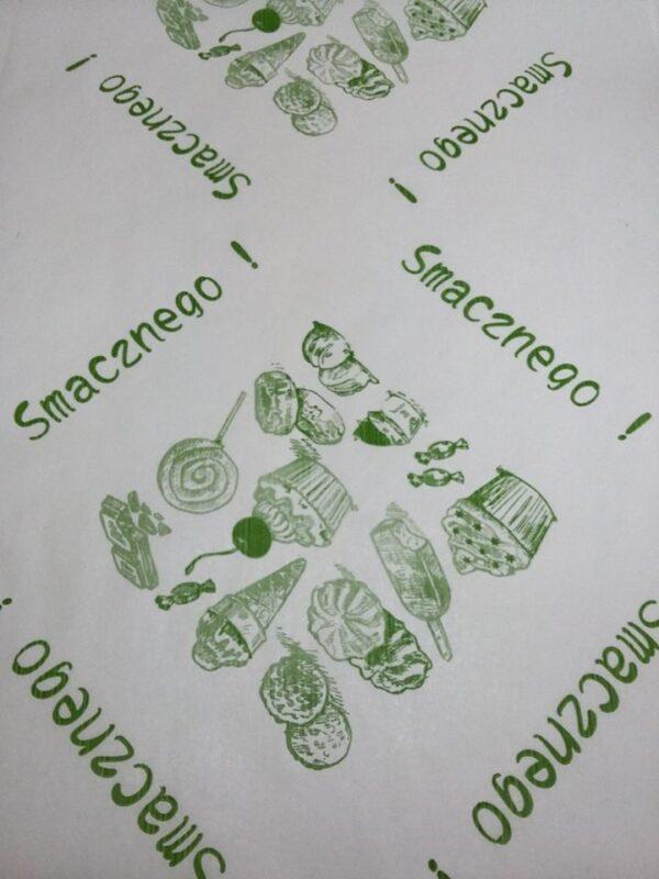 półpergamin kolor nadruk zielony