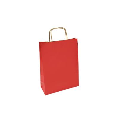 czerwona torba papierowa z uchem