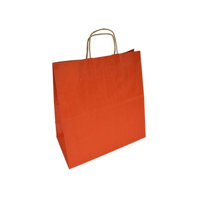 pomarańczowa torba papierowa z uchem