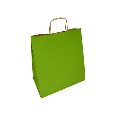 jasnozielona torba papierowa z uchem