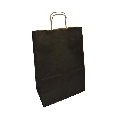 czarna torba papierowa z uchem