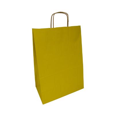żółta torba papierowa z uchem