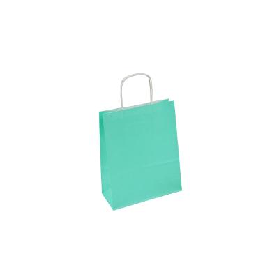 miętowa torba papierowa z uchem