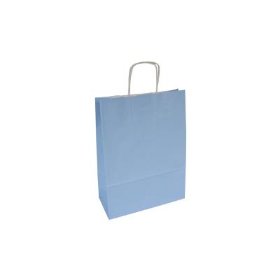 błękitna torba papierowa z uchem