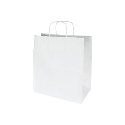 torba papierowa biała gładka