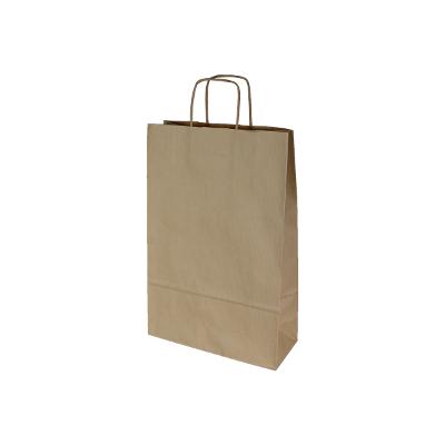 torebka papierowa brązowa prążkowana