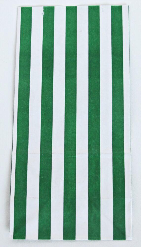 krzyżowa w paski zielona